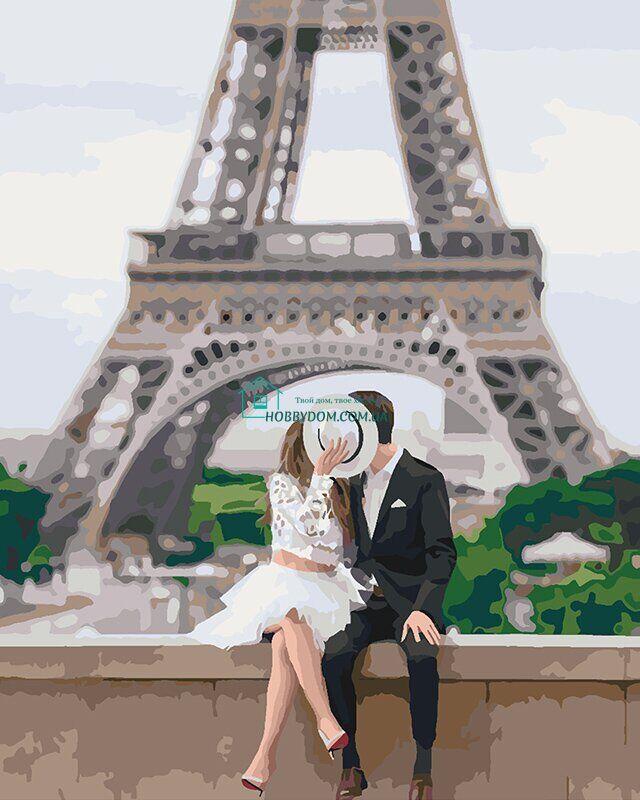 KH4531 Раскраска по номерам Парочка в Париже ТМ Идейка 249 ...