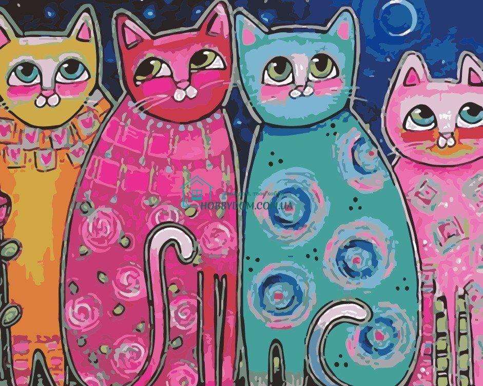 AS0165 Раскраска по номерам Яркие коты ТМ Art Story 250 ...