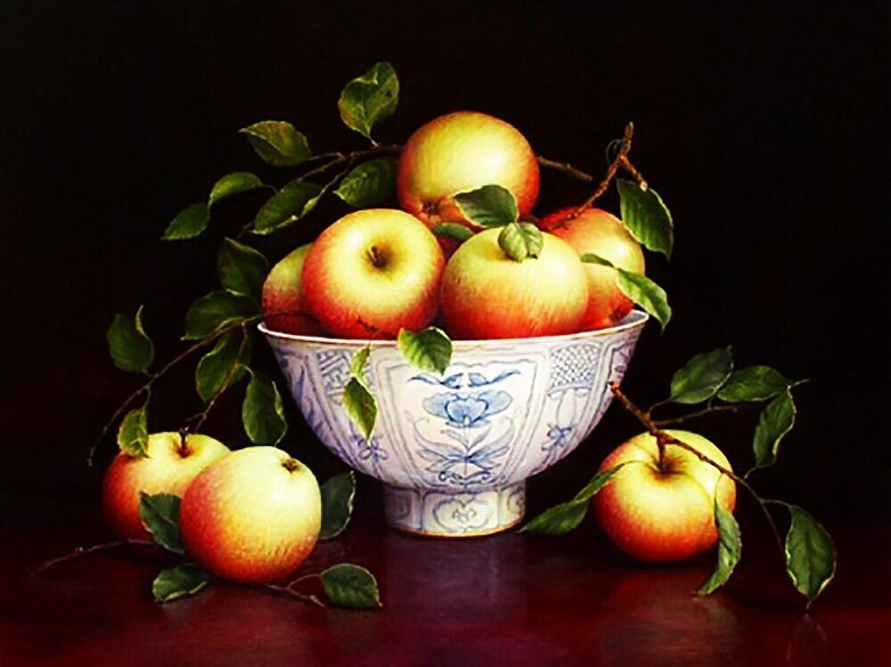 Картинка яблоки в вазе