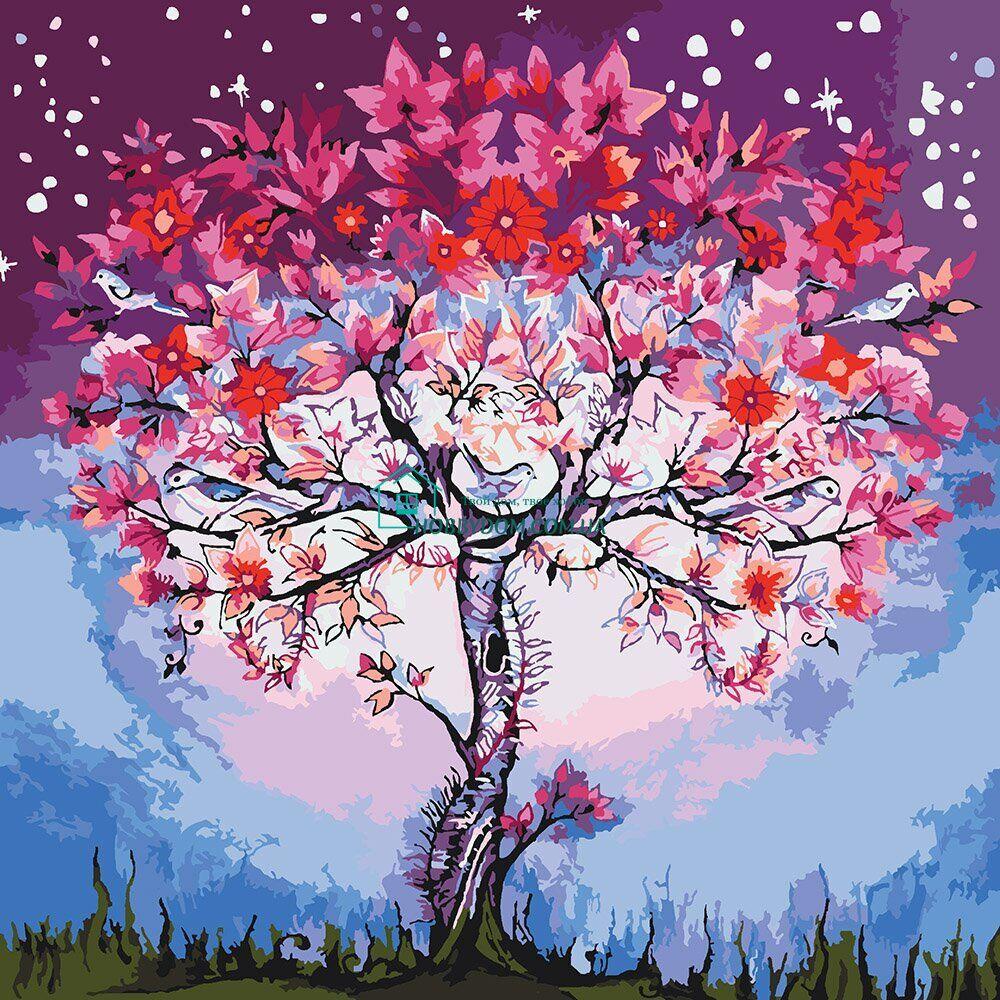 КНО5012 Раскраска по номерам Волшебное дерево ТМ Идейка ...