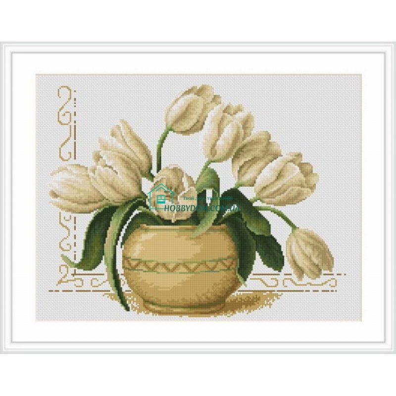 B2217 Ваза з тюльпанами Набір для вишивання нитками Luca-S 250 грн ... 1e39fdfd67c8d