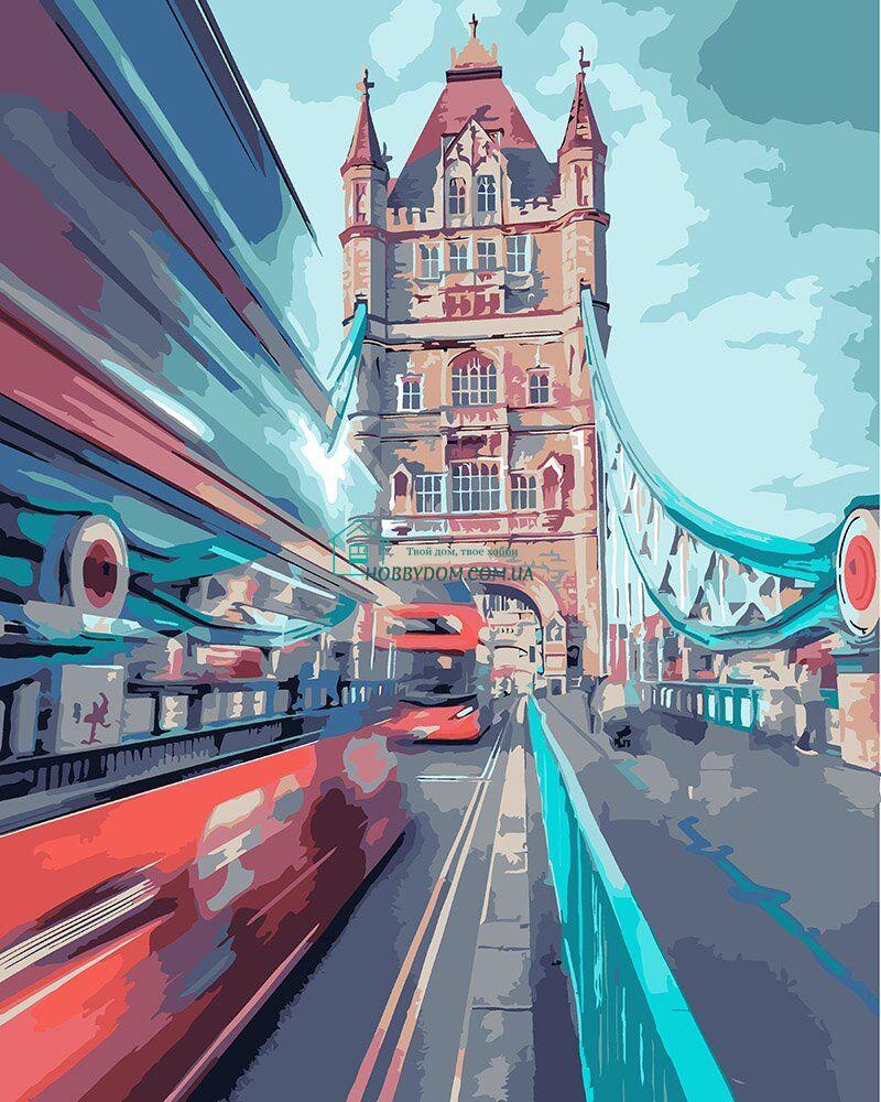 KHO3570 Раскраска- картина по номерам Динамичный Лондон ТМ ...
