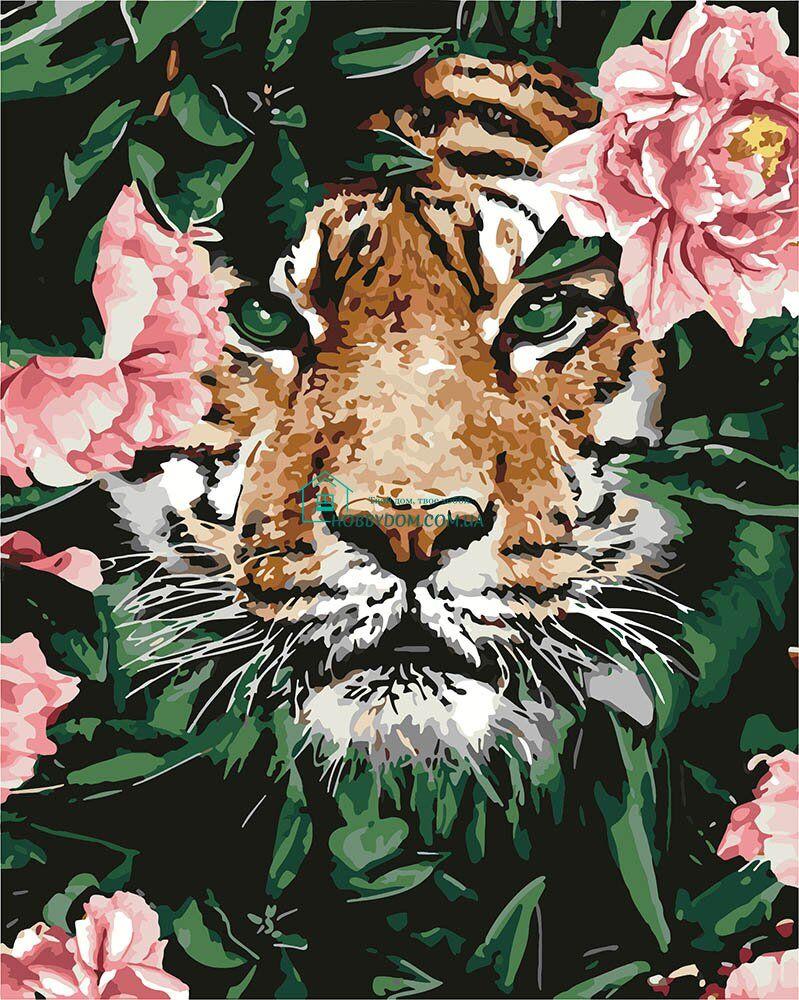 KH4172 Картина-раскраска Тигр в цветах ТМ Идейка 299 грн ...