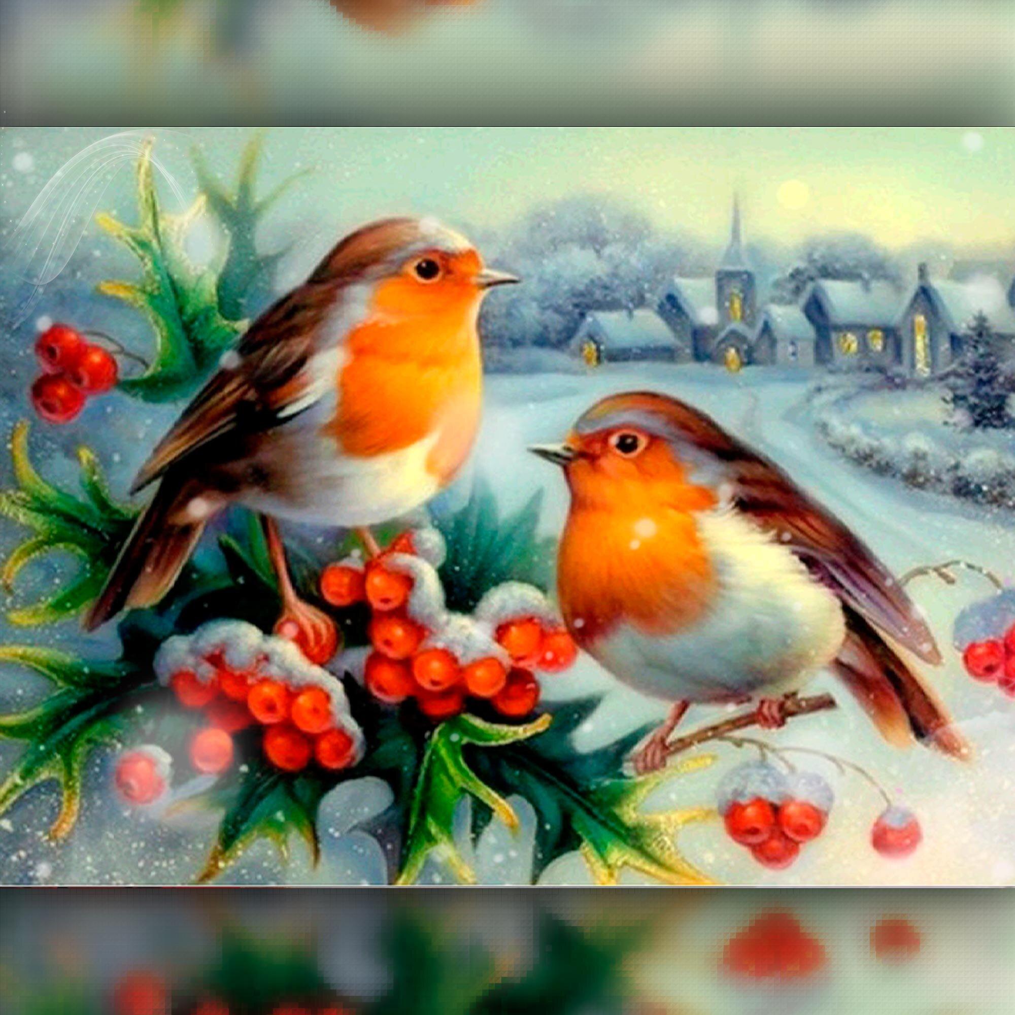 Смотреть старые открытки снегири на рябине красивые и новогодние, поздравления сдачей экзамена
