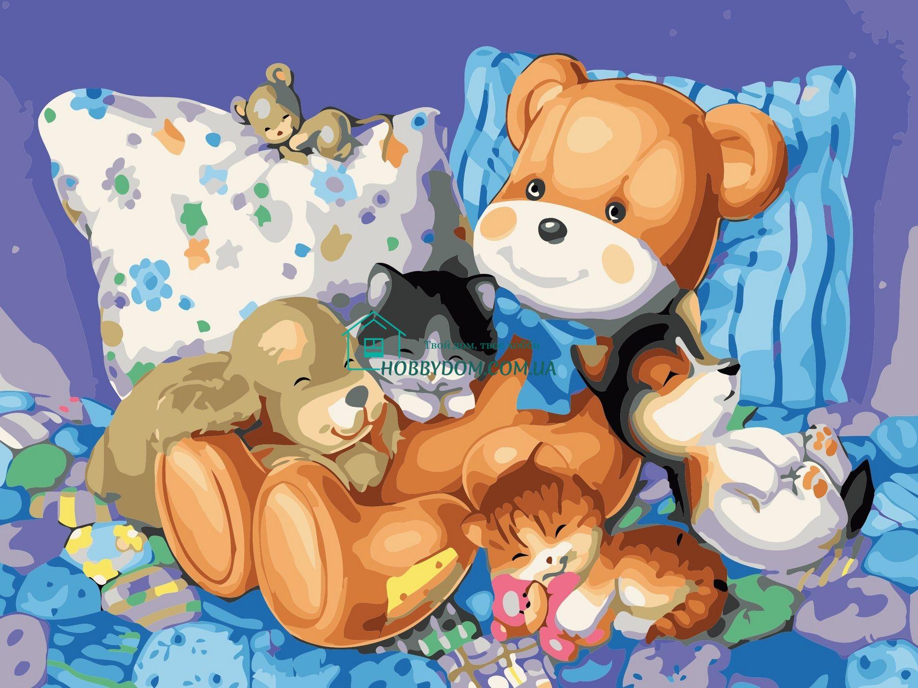 Спят игрушки картинки