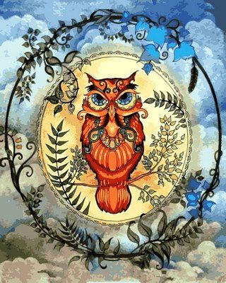 VP615 Раскраска по номерам Магическая сова ТМ Babylon 329 ...