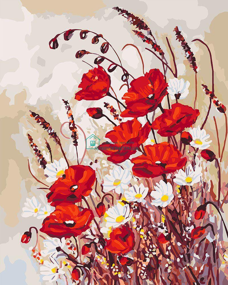 KH3042 Раскраска- картина по номерам Маки на поляне ТМ ...