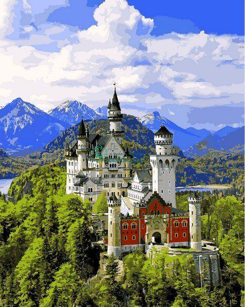 VP1095 Вид на замок Нойшвайнштайн Набор-картина по номерам ...