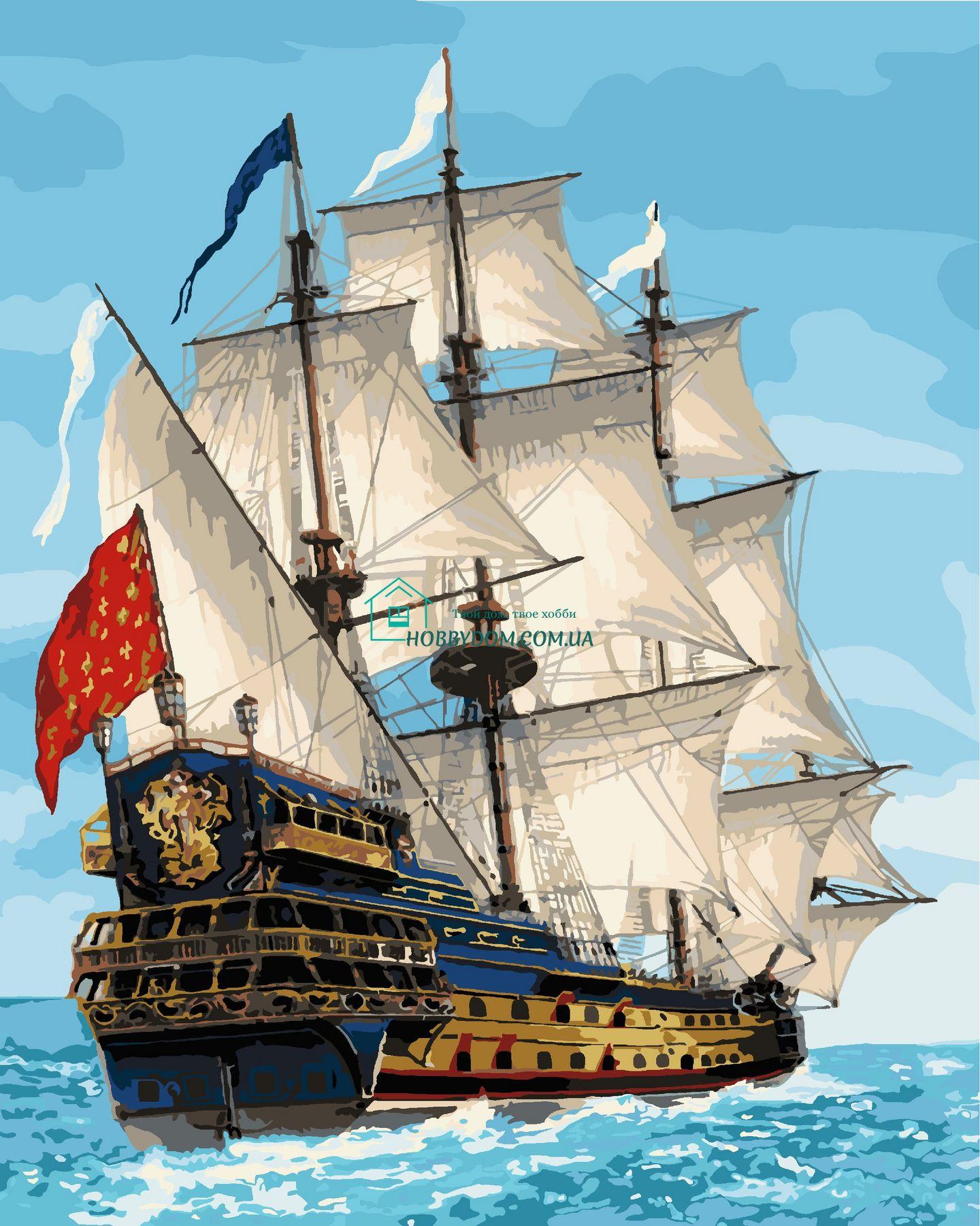 КНО2729 Раскраска по номерам Королевский флот ТМ Идейка ...